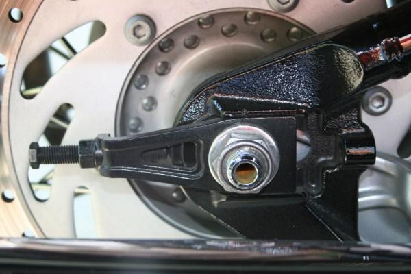 Rear Wheel Alignment, Belt Adjustment, Tension, Yamaha Road Star