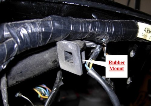 Rubber Coil Mount, Yamaha Road Star