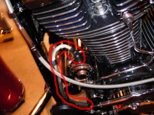 Yamaha Road Star new cable installed
