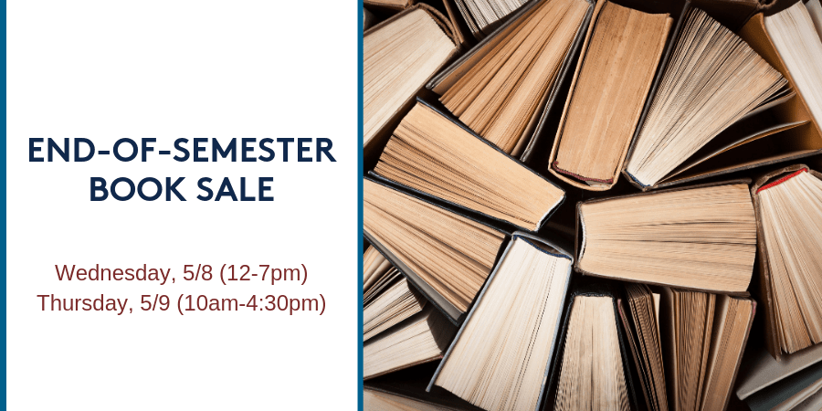 End-of-Semester Book Sale
