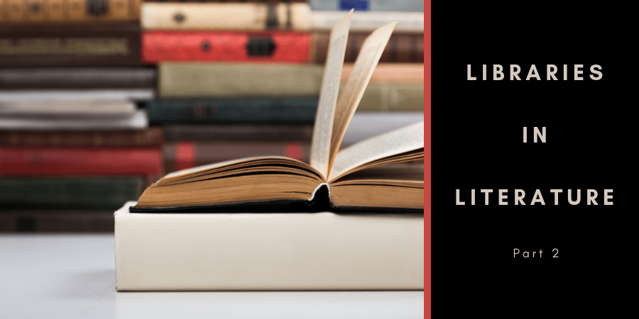 Blog post title set against an open book and stacks of books
