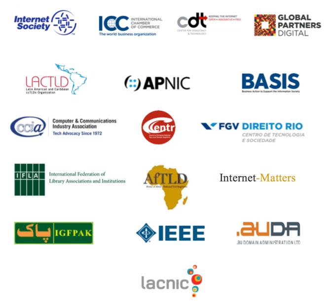 Logos of initial signatories