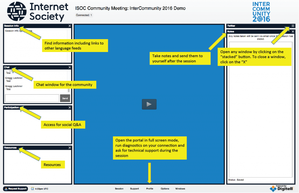 Connect to the IC2016 Portal