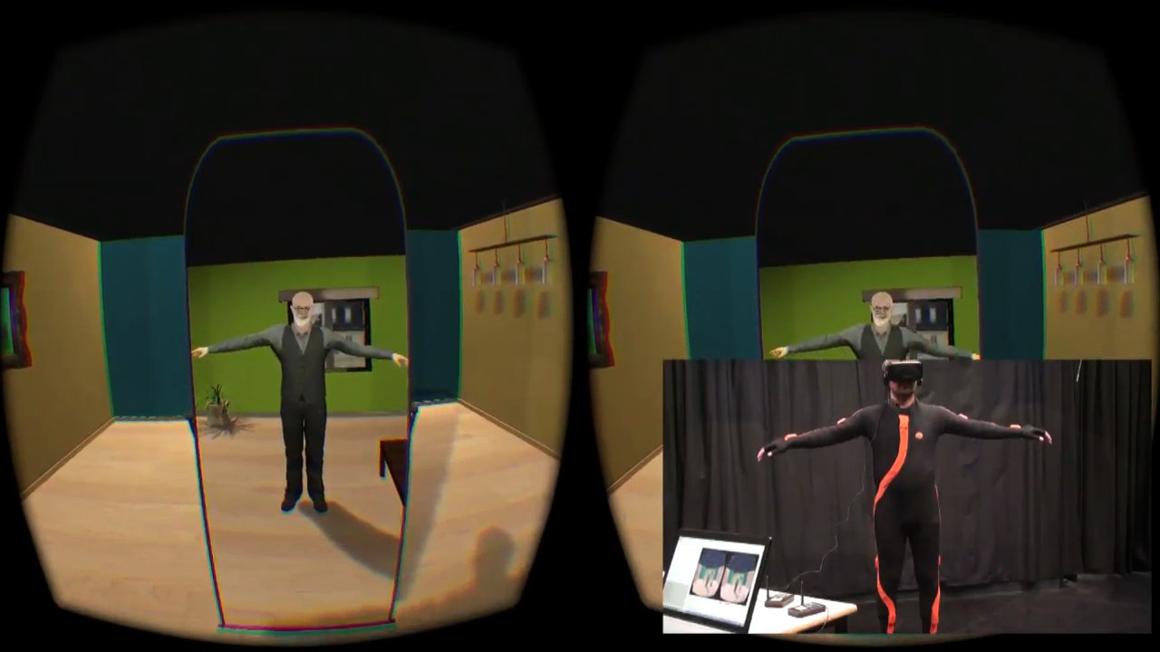 Illusory ownership of an avatar in virtual reality