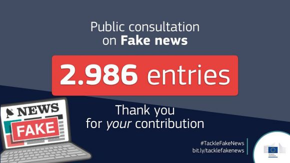 Graphic mentioning the total number of replies received to the consultation on fake news.