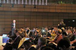 Alberto Sangiovanni Vincentelli during his keynote speech