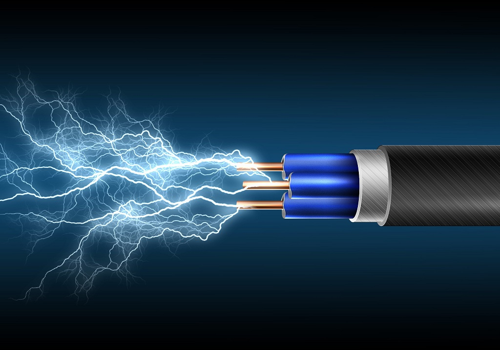 Image shows an electric cable