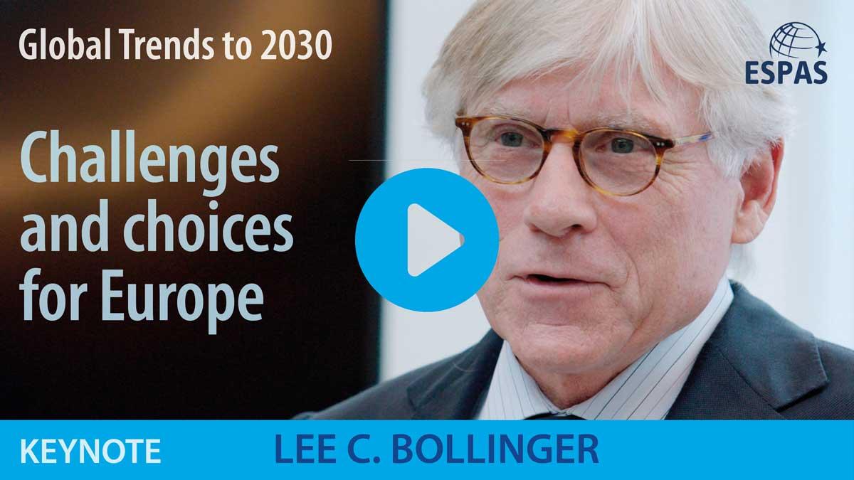 Thumbnail of Lee C. Bollinger's video keynote