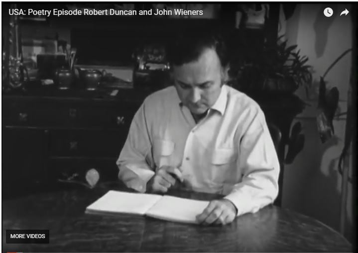 Robert Duncan and John Wieners reading