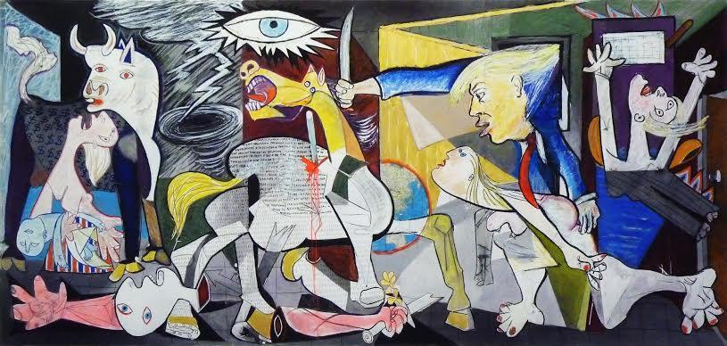 Trumpuernica, by Ben Perrone