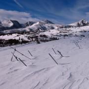 Snow heating structures on Niwot Ridge