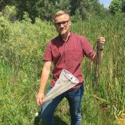 Zachary Little in the field