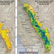 Sierra Nevada SWE maps