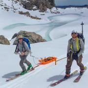 McGrath Schneider hike to measure snow accumulations