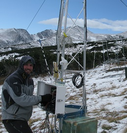 Downloading snow depth measurements