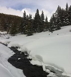 Alpine snow and creek