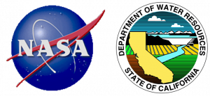 NASA and C.A. Department of Water Resources logos