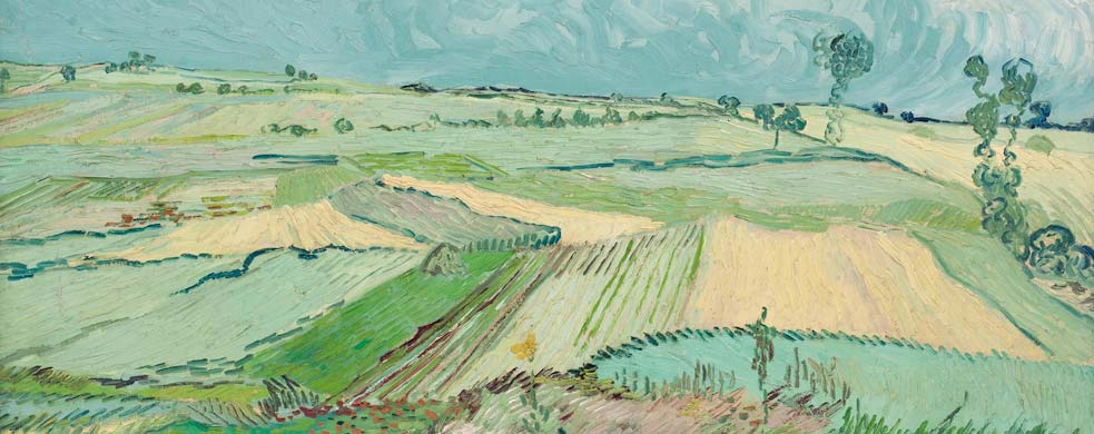 Detail of Vincent van Gogh's painting Wheat Fields after the Rain (The Plain of Auvers)