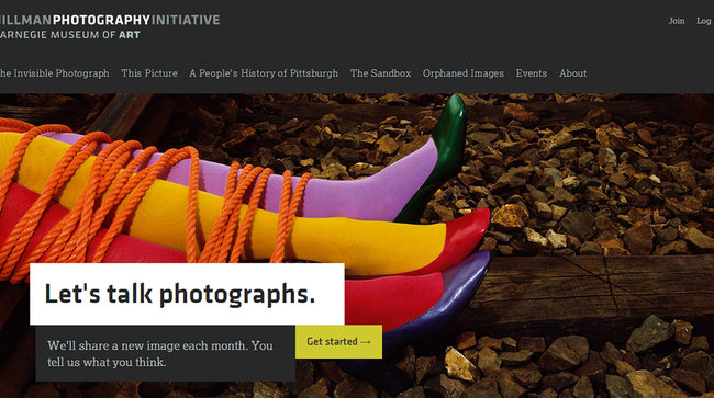 Screenshot of the Hillman Photography Initiative website, launched April 2014.