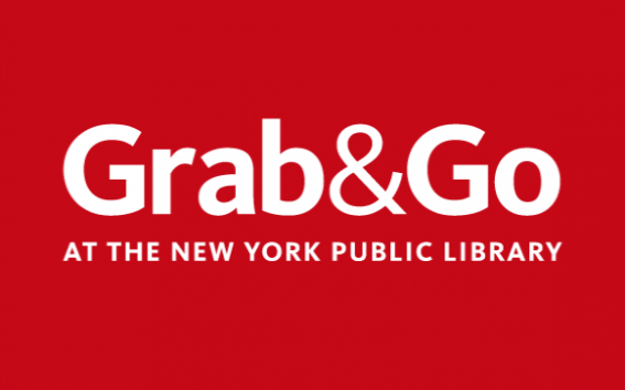 Red image that reads Grab & Go at The New York Public Library.