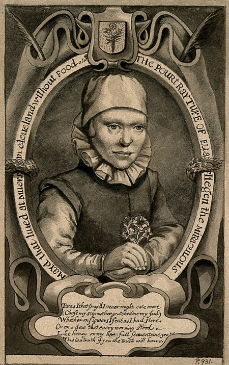 Image of woman who lived off flowers.