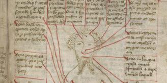 Vein man in medieval manuscript.