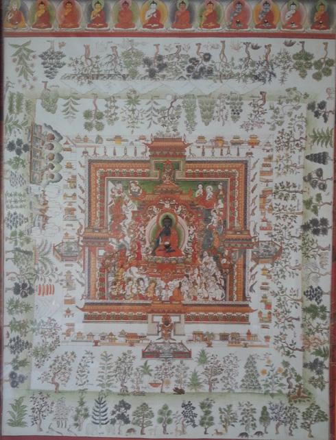 Chinese image showing Medicine Buddha.