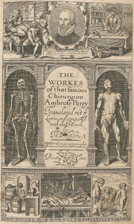 Title-page of early modern book on surgery.