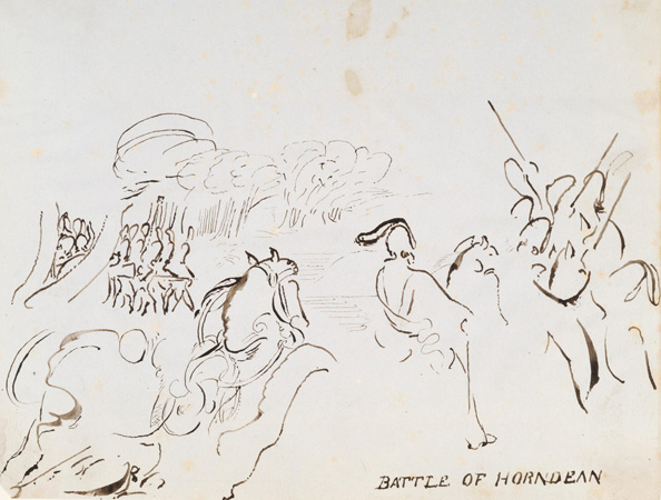 Artwork: The Battle of Horndean by David Cathcart