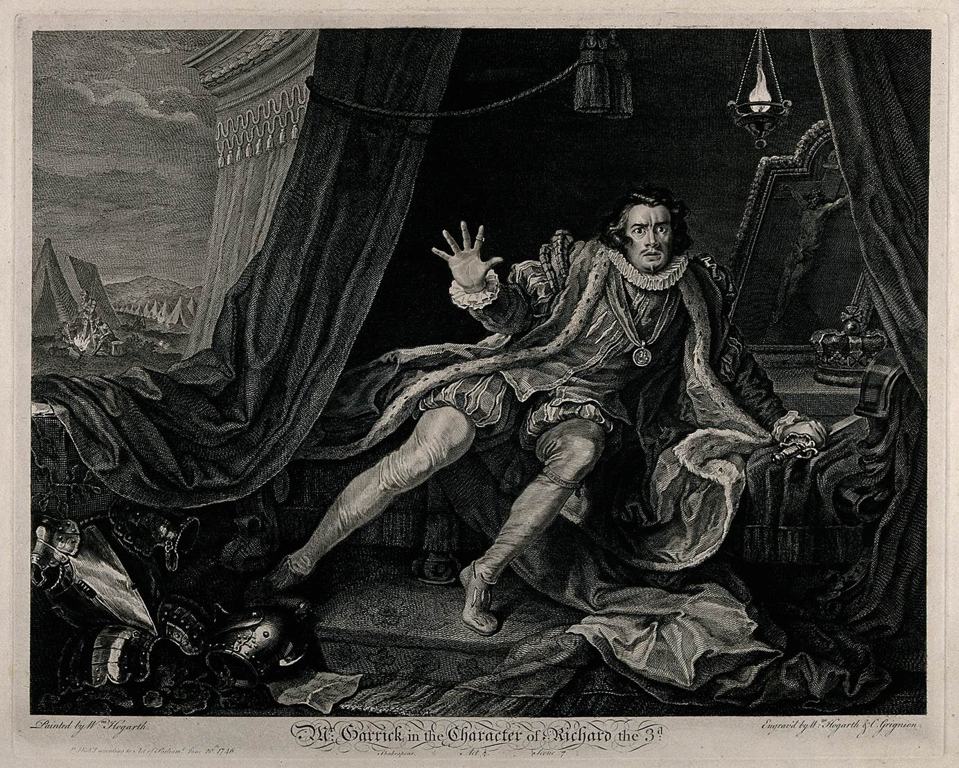 David Garrick as Richard III, print