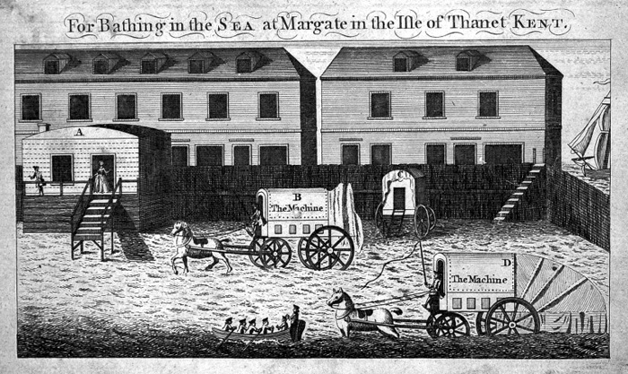 L0010797 Sea-bathing machine at Margate Credit: Wellcome Library, London. Wellcome Images images@wellcome.ac.uk http://wellcomeimages.org Sea-bathing machine at Margate, with captions. Published: - Copyrighted work available under Creative Commons Attribution only licence CC BY 4.0 http://creativecommons.org/licenses/by/4.0/