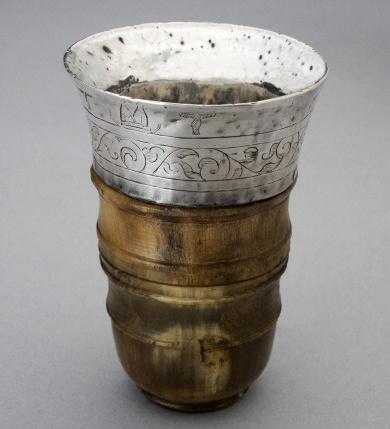 Rhinoceros horn cup