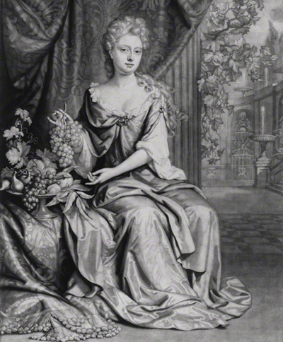 NPG D18694; Grace (nÈe Granville), Countess Granville and Viscountess Carteret by John Smith, published by Edward Cooper, after Johann Kerseboom
