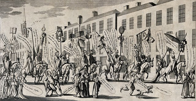 Burghers of the Dutch Republic in procession, 1720