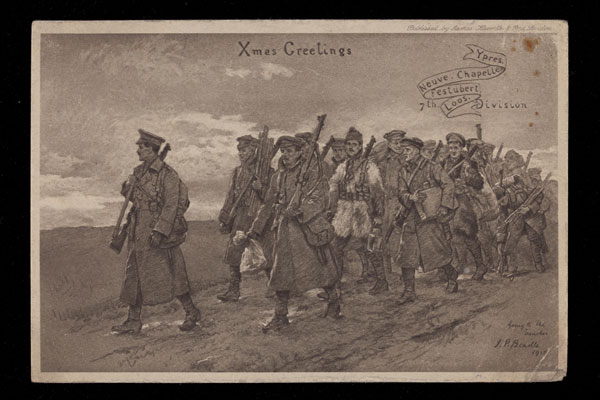 Christmas greetings from the trenches, 1915, RAMC 1015/15