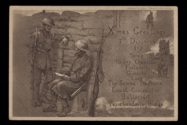 Christmas greetings from 1917, RAMC 1015/5