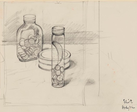 Pen and pencil drawing by Eliot Hodgkin, ca. 1962. Wellcome Library reference no. 2497376i. © The Estate of Eliot Hodgkin.