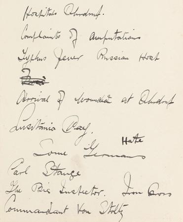 J P Lynch's diary 1914