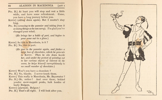 Aladdin in Macedonia. a pantomime by members of the 85th Field Ambulance. First produced 21 December 1916 to audiences of the 28th Division on the Struma front, Macedonia