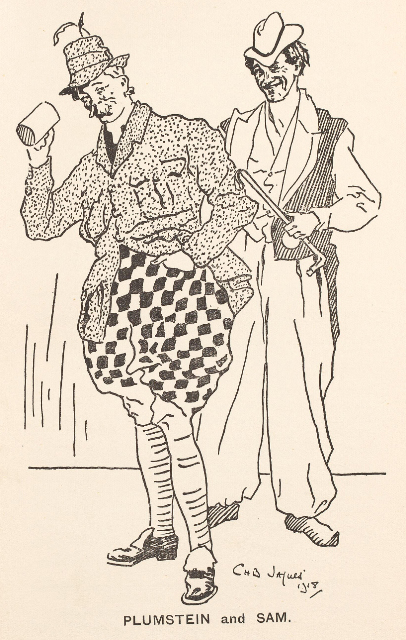 Plumstein and Sam in the RAMC production of Bluebeard, Salonika 1917