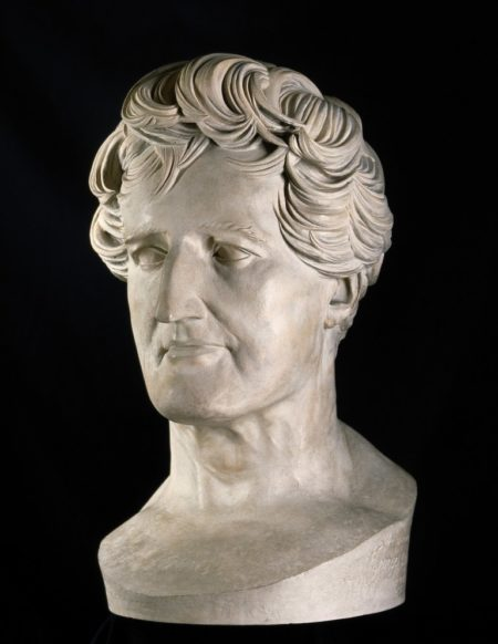 Georges-Léopold-Chrétien-Frédéric-Dagobert, Baron Cuvier. Plaster bust by P.-J. David d'Angers, 1838. Wellcome Library no. 11959i