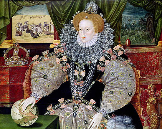 Queen Elizabeth I by George Gower, 1588 (National Maritime Museum) Image credit: Wikimedia Commons.