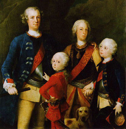 Prince Frederick, Prince Ferdinand, Crown Prince Augustus William and Prince Henry