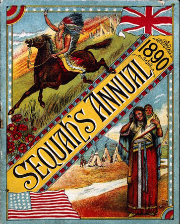 Front cover of Sequah's Annual, 1890