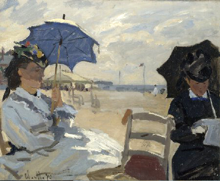Beach at Trouville Monet