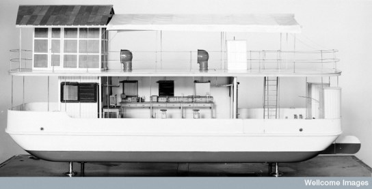 Model of Wellcome's floating laboratory. Wellcome Images ref. M0013177