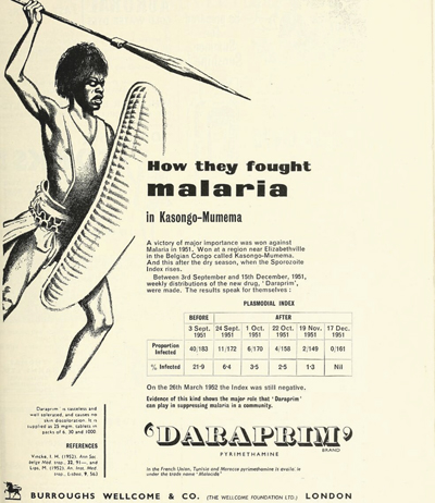 Daraprim advert 1956