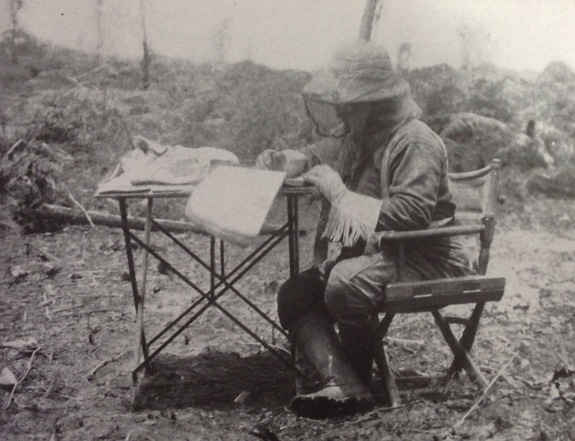 Roosevelt in mosquito net