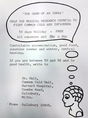 Flier for common cold trial