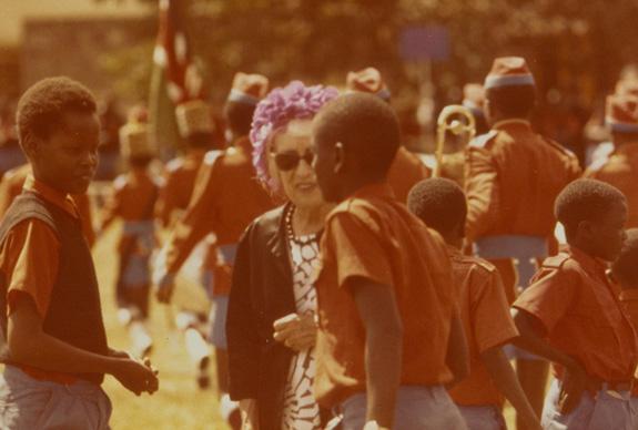 Photograph of Robina Addis in Kenya